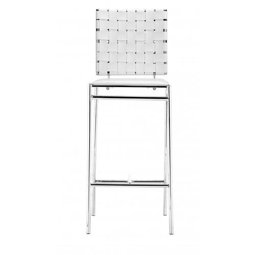 Criss Cross Counter Chair White