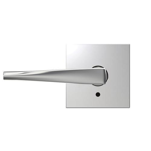 Custom Eller Lever with Collins Trim Hall-Closet and Bed-Bath Lock - Bright Chrome