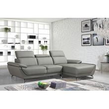Product Image - Divani Casa Sterling Modern Grey Eco-Leather Sectional Sofa