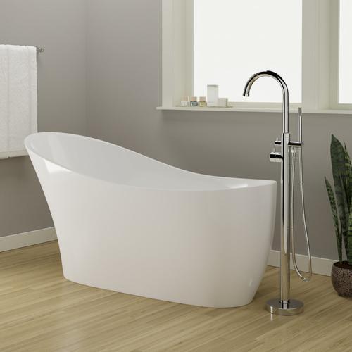 "Lydia 65"" Acrylic Slipper Tub"