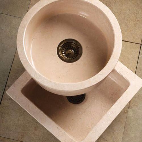 Entertainment Sinks Beige Granite / Square Prep Sink