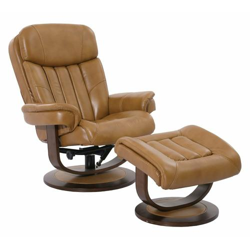 Parker House - PRINCE - BUTTERSCOTCH Manual Reclining Swivel Chair and Ottoman