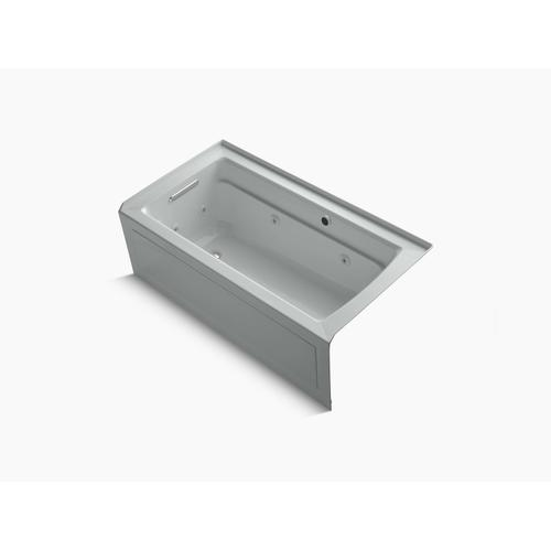 """Ice Grey 60"""" X 32"""" Alcove Whirlpool Bath With Bask Heated Surface, Integral Apron, Integral Flange and Left-hand Drain"""