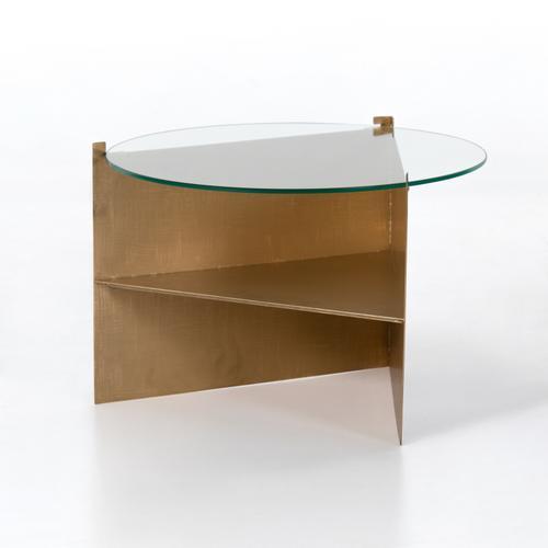 Benicio Coffee Table-gold Brush