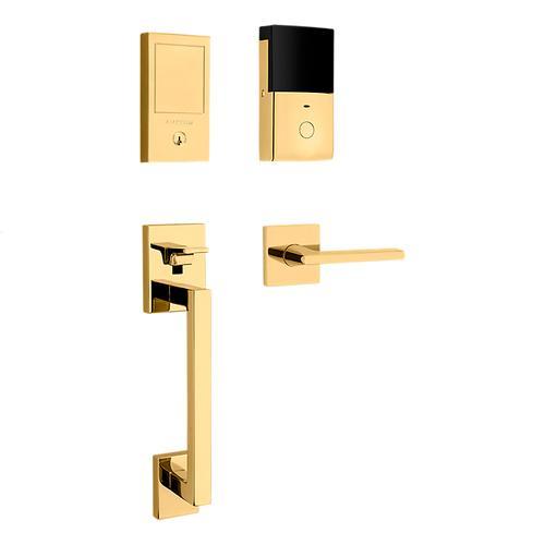 Lifetime Polished Brass Minneapolis Touchscreen Dummy Handleset