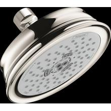 Polished Nickel Showerhead 3-Jet, 2.5 GPM