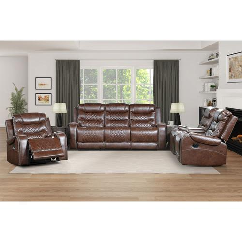 Gallery - Double Reclining Sofa with Drop-Down Cup Holders, Receptacles and USB ports