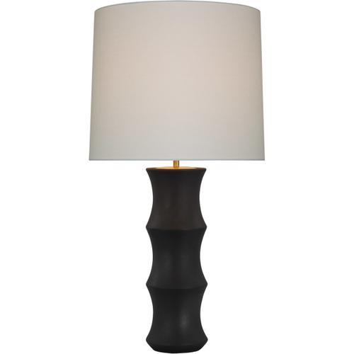 AERIN Marella 37 inch 15.00 watt Stained Black Metallic Table Lamp Portable Light, Large