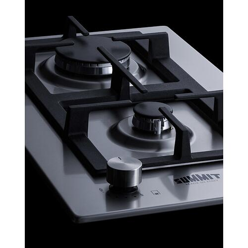 "12"" Wide 2-burner Gas Cooktop In Stainless Steel"