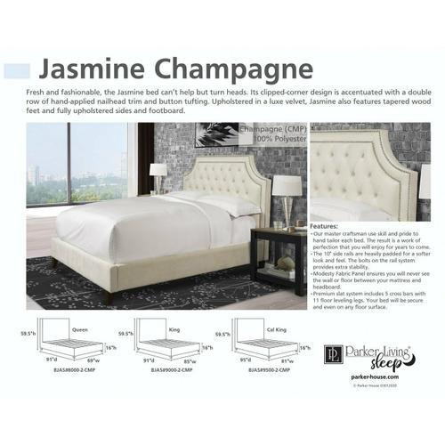 JASMINE - CHAMPAGNE King Footboard and Rails 6/6 (Natural)