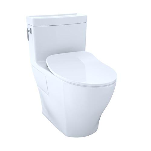 Aimes® One-Piece Toilet, 1.28GPF, Elongated Bowl - Washlet®+ Connection - Slim Seat - Cotton