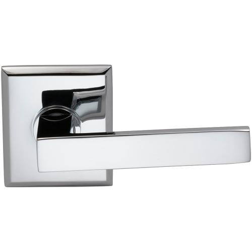 Interior Modern Lever Latchset with Rectangular Rose in (US26 Polished Chrome Plated)