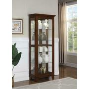 Casual Warm Brown Curio Cabinet Product Image