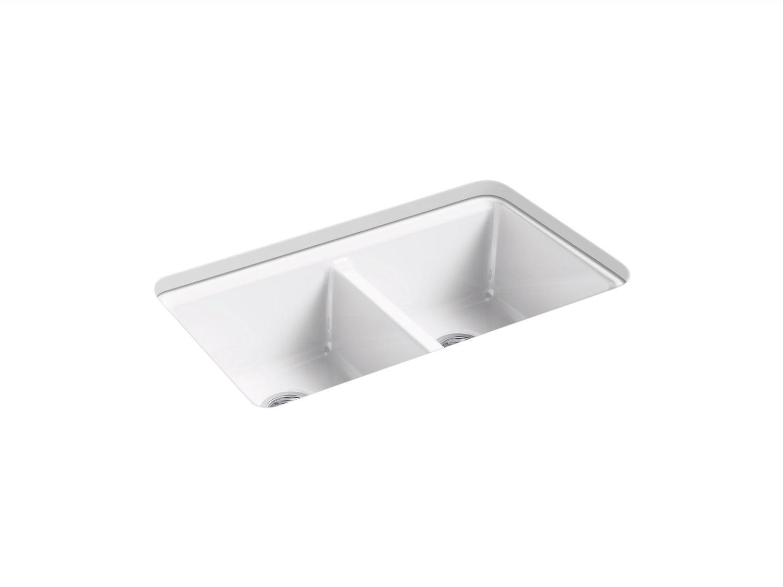Kohler K-8679-5UA3-FD Riverby under-mount double-equal kitchen sink