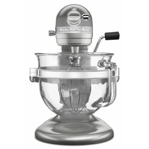 KitchenAid - Professional 6500 Design™ Series 6 Quart Bowl-Lift Stand Mixer - Sugar Pearl Silver
