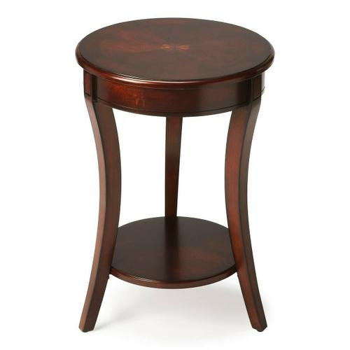 Butler Specialty Company - Made of select solid woods and choice veneers. Cherry, maple and walnut veneer inlay on top.