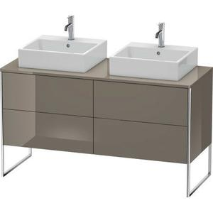 Vanity Unit For Console Floorstanding, Flannel Gray High Gloss (lacquer)