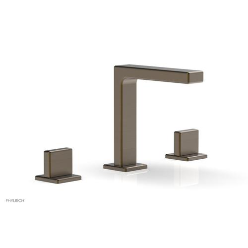 """MIX Widespread Faucet - Blade Handle 6-3/4"""" Height 290-01 - Old English Brass"""