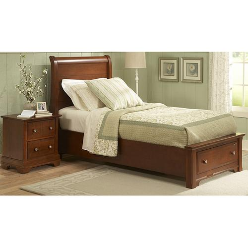 Sleigh Bed with Storage Footboard Twin & Full