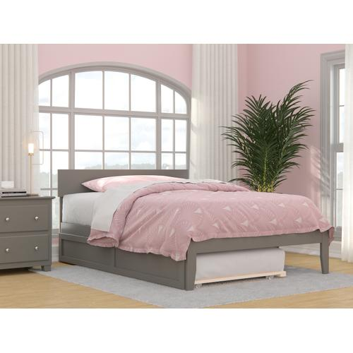 Boston Full Bed with Twin Trundle in Grey