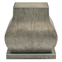 Montego Pedestal Chairside Table in Rustic Gray
