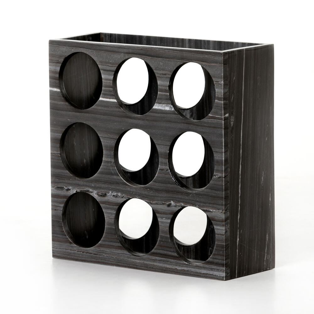 Veneto Wine Rack-ebony Marble