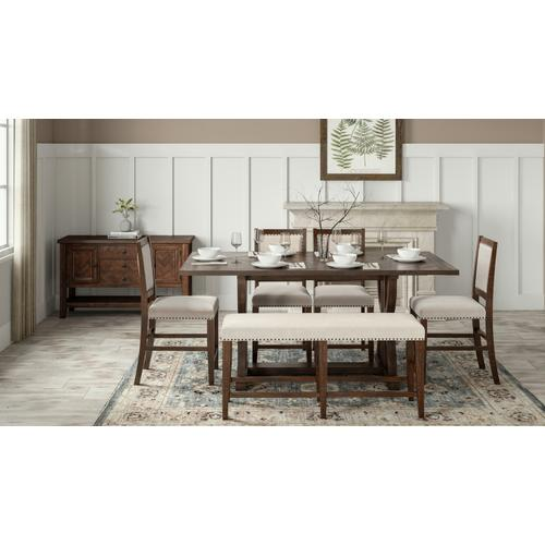 Fairview Ext Table W/(4) Stools