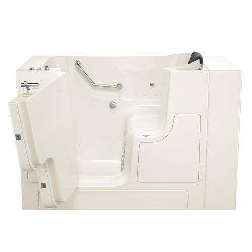 Gelcoat Premium Seriers 30x52 Walk-in Tub with Combo Massage and Outswing Door, Left Drain  American Standard - Linen