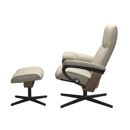 See Details - Stressless® Consul (L) Cross Chair with Ottoman