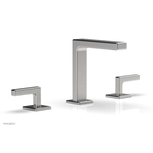 """MIX Widespread Faucet - Lever Handles 6-3/4"""" Height 290-02 - Satin Chrome"""