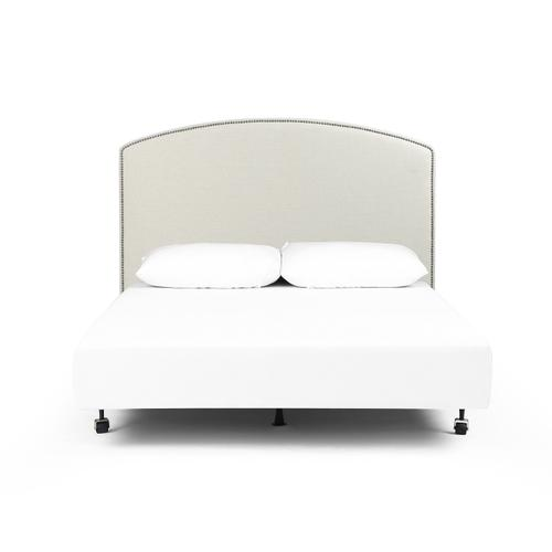 King Size Savile Flax Cover Surry Curved Headboard