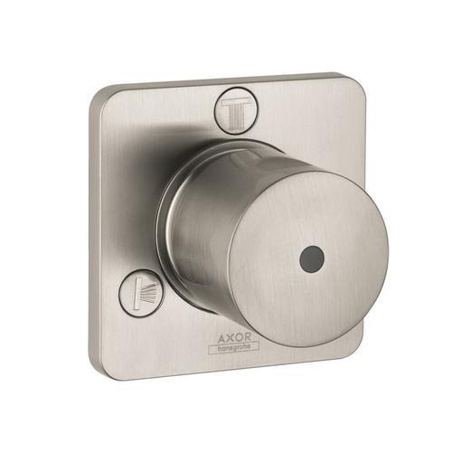 Brushed Nickel Shut-off/ diverter valve Trio/ Quattro for concealed installation