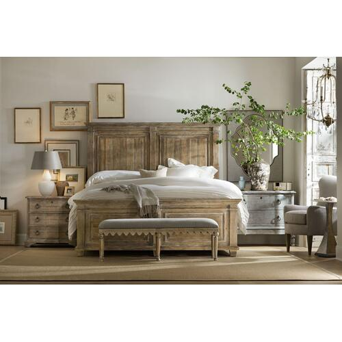 Bedroom Boheme Bastogne Three-Drawer Nightstand