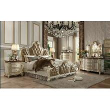 ACME Picardy Queen Bed - 26900Q - PU & Antique Pearl