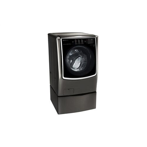 LG - LG SIGNATURE 5.8 cu. ft. Large Smart wi-fi Enabled Front Load Washer