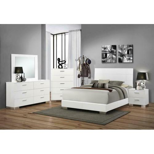 Felicity Contemporary White Eastern King Five-piece Set