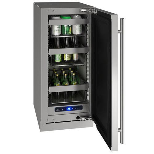 "U-Line - Hre515 15"" Refrigerator With Stainless Solid Finish (115 V/60 Hz Volts /60 Hz Hz)"