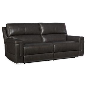 Gable Leather PWR 2 over 2 Sofa w/ PWR Headrest