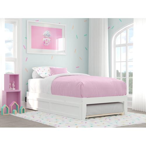 Atlantic Furniture - Colorado Twin Bed with USB Turbo Charger and Twin Trundle in White