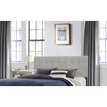 View Product - Delaney Full/queen Upholstered Headboard With Frame, Glacier Gray