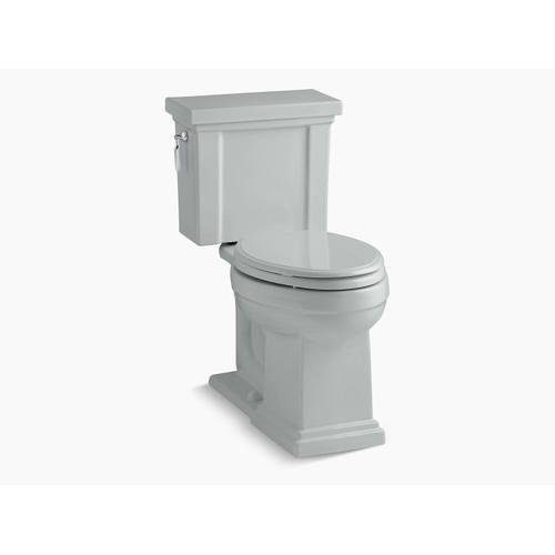 Kohler - Ice Grey Two-piece Elongated 1.28 Gpf Chair Height Toilet