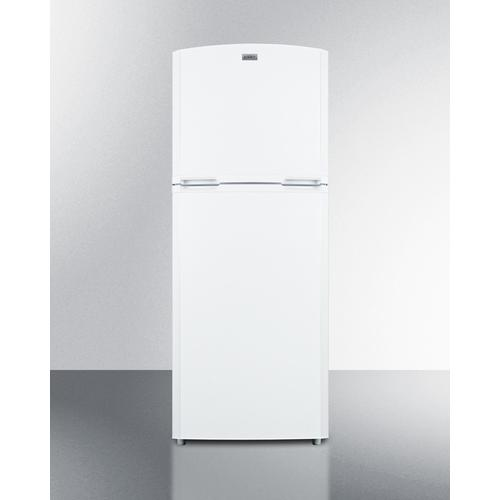 "Counter Depth Frost-free Refrigerator-freezer In White With A 26"" Footprint and Reversible Doors"