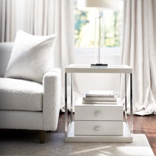 Gallery - Silhouette Side Table in Eggshell (307)