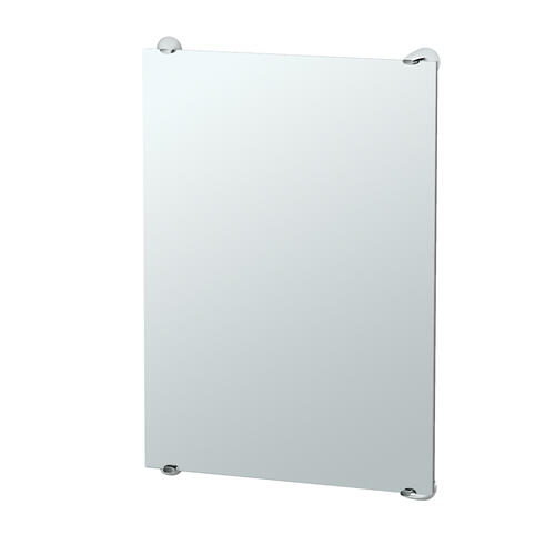 Brie Fixed Mount Mirror in Chrome