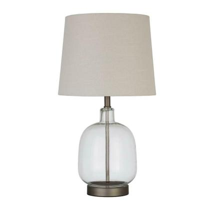 Transitional Clear Table Lamp