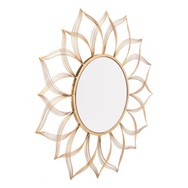See Details - Flower Mirror Gold