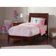 Portland Twin XL Bed in Walnut