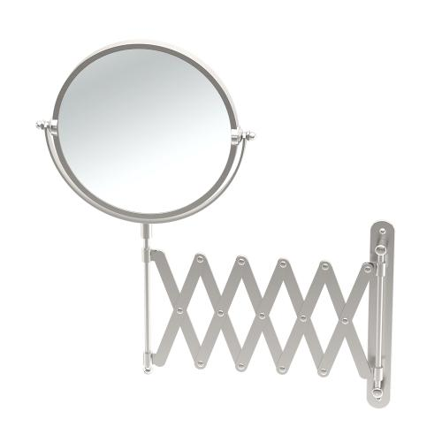 Accordion Mirror in Satin Nickel