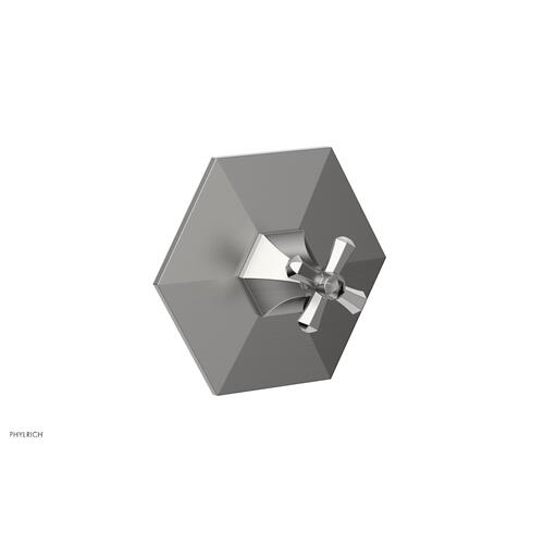 Phylrich - LE VERRE & LA CROSSE Thermostatic Shower Trim - Cross Handle TH171 - Satin Chrome