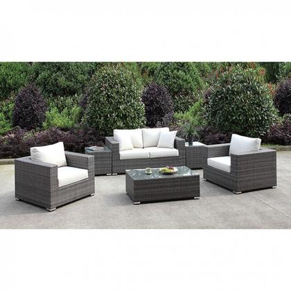 See Details - Somani Love Seat + 2 Chairs + 2 End Tables + Coffee Table